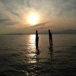 Sonnenuntergang in der Bucht von San Vigilio