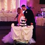 Ashlee and Will and wedding cake