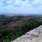 Views from the ancient wall of Mdina over the island
