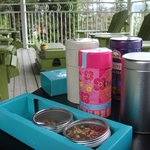 Breakfast tea on the balcony