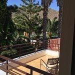 Blick vom Zimmer/Terrasse