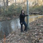Creek behind our studio cabin