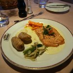 Salmon with vegetables of the day
