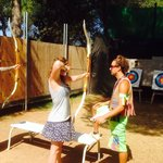 Archery with instruction from Gabriel