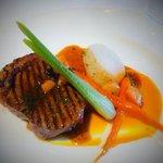 Strip loin from dinner menu