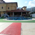 View of the pool area