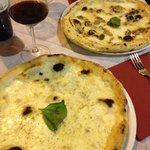 Pizza Bianca & pizza tartufo