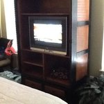 old tv in bedroom