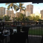 View from Lanai at Hard Rock Honolulu