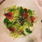 Sashimi salad is very lite and perfect for a large main