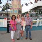 FAMILY AT FAIRGROUND