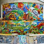Alan Shepp's mosaic fountain