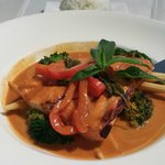 Red Curry Grilled Salmon with a HUGE piece of Salmon