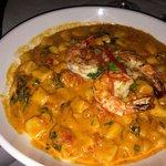 Gnocchi with shrimp