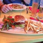 Tandoori burger! Yum!