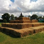 Some straw bales.