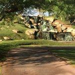 waterfall near golf course