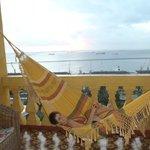 Relax dans le hamac en fin de journée.