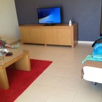 large screen TV with free to air channels in lounge