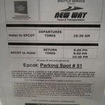 Disney Shuttle Schedule