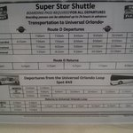 Islands of Adventure Shuttle schedule