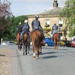 Race horses through Masham