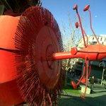 Flor Pasionaria - mega escultura de metal