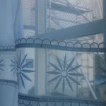 scaffolding outside room 27