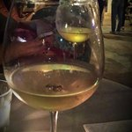 Enjoying some lovely local wine