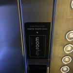 Карточка в лифте