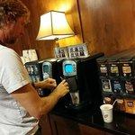 Coffee/tea in lobby - try the foam!