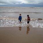 Still in the sea in February!