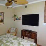 Room 905 bedroom with TV