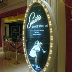 The entrance of Sinatra's show