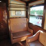 Das 1.-Klasse-Abteil im Triebwagen