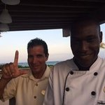Chef Monplaisir and our great 'Italian' waiter