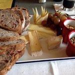 Three cheese platter