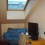 Vista de la claraboya de la habitación