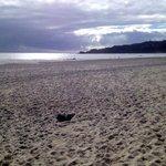 Beach is a 5 minute walk away