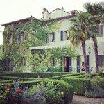 Villa overlooking garden