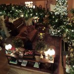 the living room from above, at Christmas