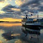 Steamship Katahdin at sunset