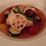 Agedashi tofu with vegetables