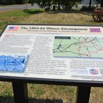 One of the historical markers near the Graffiti house and surrounding battlefield area