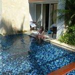 Plunge pool time!