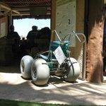Hanauma Bay- beach wheelchair