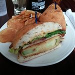 heirloom fried green tomato sandwich with local bacon!