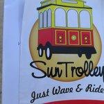 The Sun Trolley map