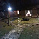 Cabaña a la noche