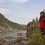 Guide near fishing rocks on Fraser River